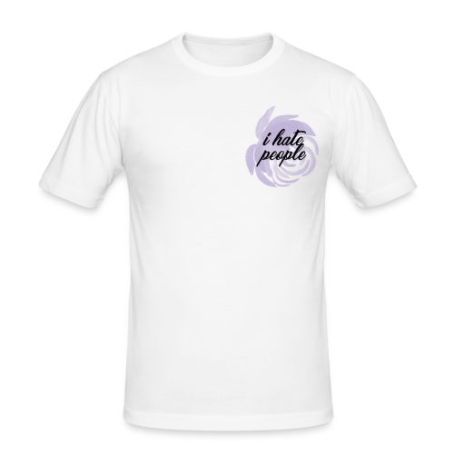 I Hate People Lilac - Men's Slim Fit T-Shirt