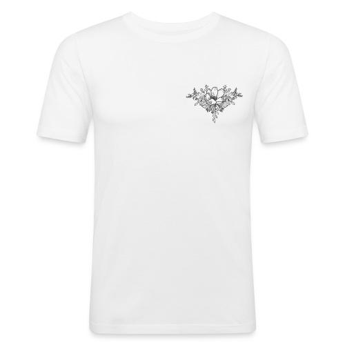 Floral Bloom - Men's Slim Fit T-Shirt