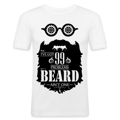 99 Problems Beard - Miesten tyköistuva t-paita