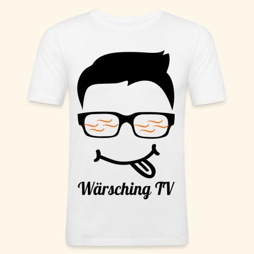 Logo WaerschingTV - Männer Slim Fit T-Shirt