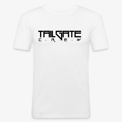 Tailgate svart - Slim Fit T-skjorte for menn