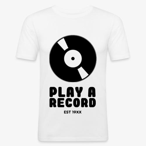 PLAY A RECORD - EST 19XX - Men's Slim Fit T-Shirt
