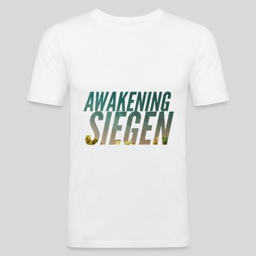 Awakening Siegen Logo - Männer Slim Fit T-Shirt