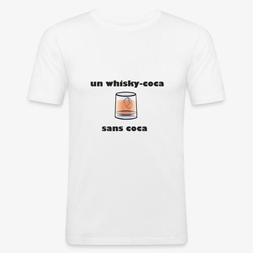 un whisky-coca sans coca - T-shirt près du corps Homme
