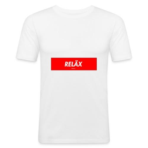Reläx Logo - Männer Slim Fit T-Shirt