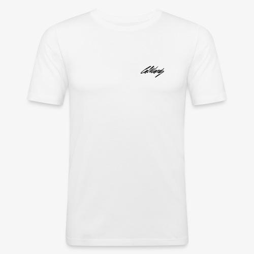 Cal Wardy Signature - White - Black Font - T-Shirt - Men's Slim Fit T-Shirt