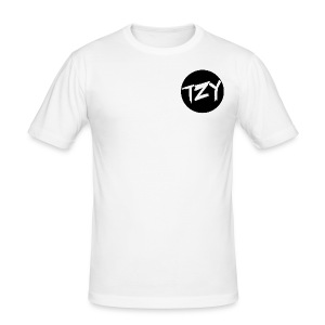 Teazy Logo - Männer Slim Fit T-Shirt