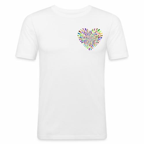 illusion heart colour - Men's Slim Fit T-Shirt