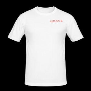 another thing logo letter - Maglietta aderente da uomo
