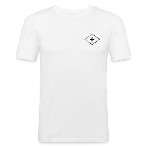 baffo_joe - white 01 - Maglietta aderente da uomo