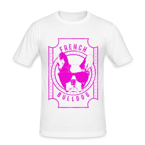 Franse Bulldog roze - slim fit T-shirt