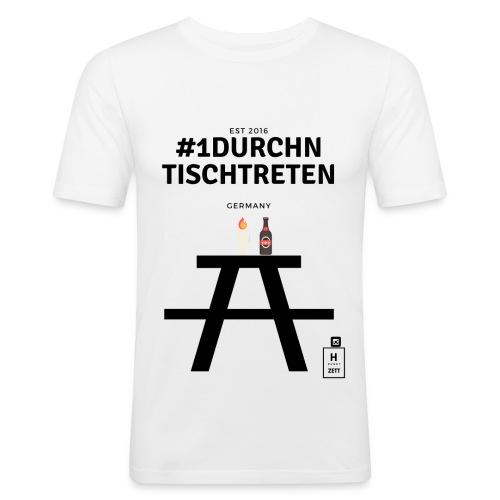 #1durchntischtreten - Männer Slim Fit T-Shirt