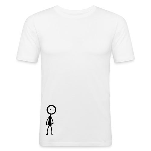 Stickyman Single - Männer Slim Fit T-Shirt