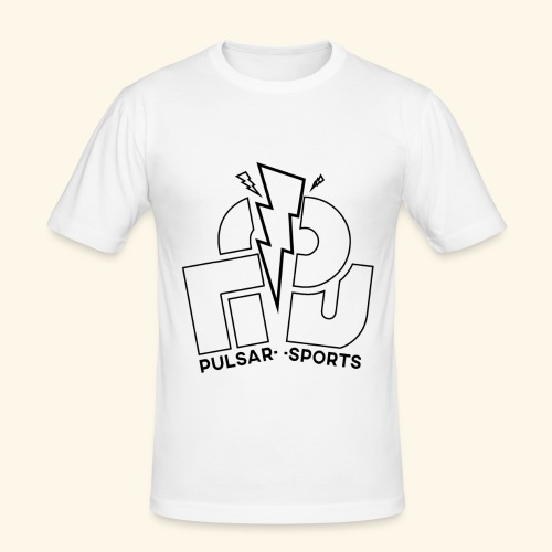 Lightning Striking through Team-Pulsar logo - Men's Slim Fit T-Shirt