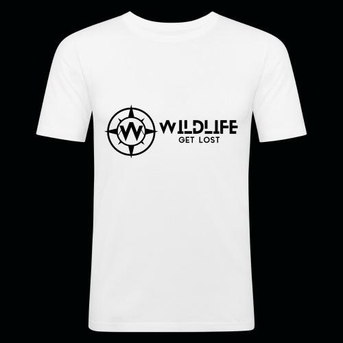 LOGO E SCRITTA WILDLIFE - Maglietta aderente da uomo