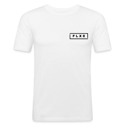 Logo Flxe [Black] - Männer Slim Fit T-Shirt