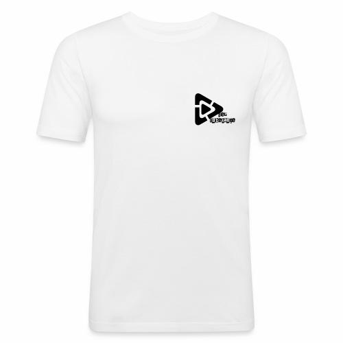 Der Unbekante schwarzes Logo - Männer Slim Fit T-Shirt