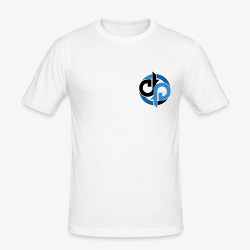 Diversity Blue and Black - Herre Slim Fit T-Shirt