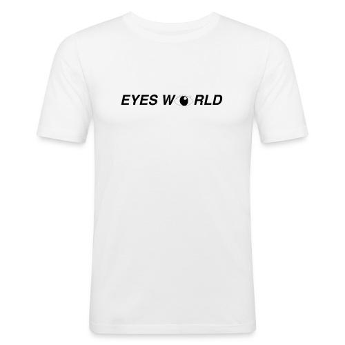 Eyes world look - T-shirt près du corps Homme