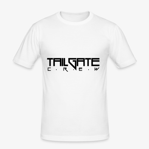 Tailgate svart - Slim Fit T-skjorte for menn