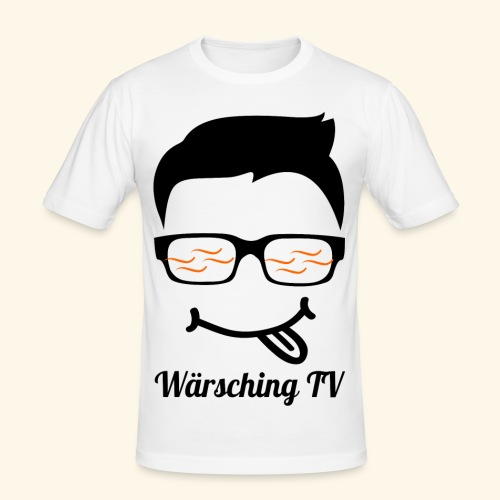 Logo WaerschingTV - Männer Slim Fit T-Shirt