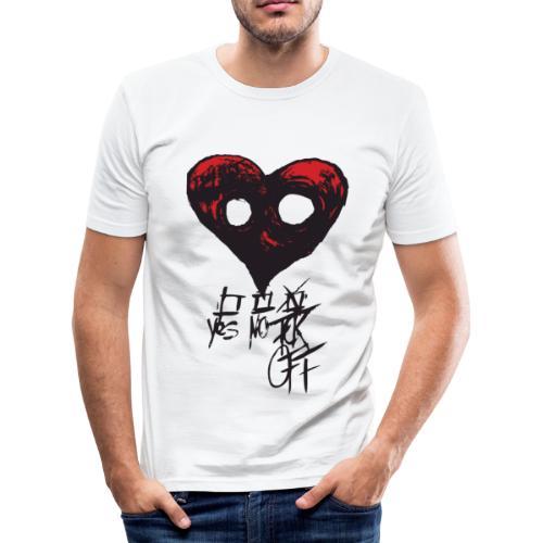 NoLove - Männer Slim Fit T-Shirt