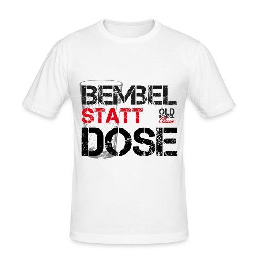 OLDSCHOOL Classic Bembel - Männer Slim Fit T-Shirt
