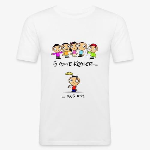 5 gute Kegler ...und ich! - Männer Slim Fit T-Shirt