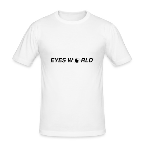 Eyes world look - T-shirt près du corps Homme
