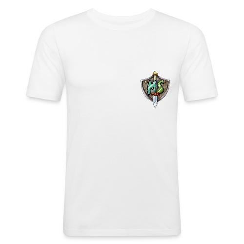 MineSucht Logo - Männer Slim Fit T-Shirt