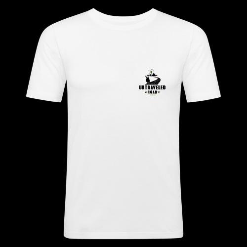 Untraveled Road Logo - black/small - Männer Slim Fit T-Shirt