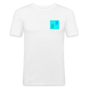 Random Network White T-Shirt (Design 2) - slim fit T-shirt