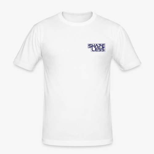 SHAPELESS LOGO blue - Maglietta aderente da uomo