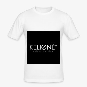"Black KELIØNĖ ""design - Men's Slim Fit T-Shirt"