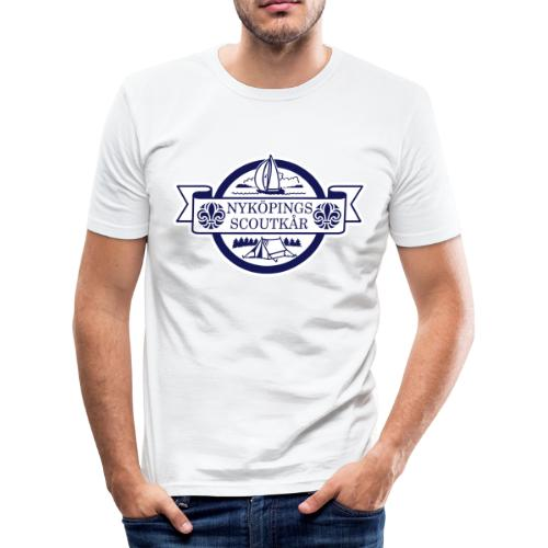 Kårlogotyp med bakgrund (blå) - Slim Fit T-shirt herr