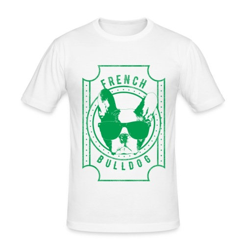 Franse Bulldog groen - slim fit T-shirt