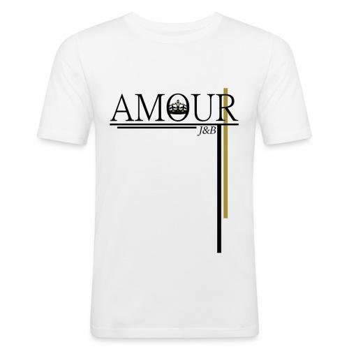Amour Lines Logo Black - Men's Slim Fit T-Shirt