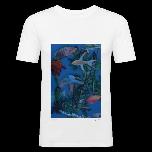 aquarium - Tee shirt près du corps Homme