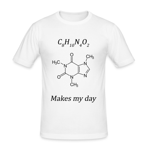 Coffein makes my day - Männer Slim Fit T-Shirt