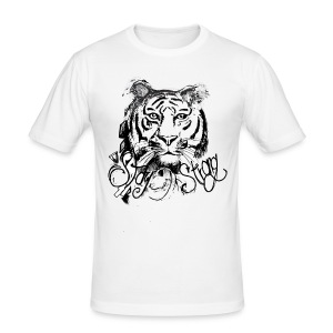 David Pucher Art Tiger - Männer Slim Fit T-Shirt