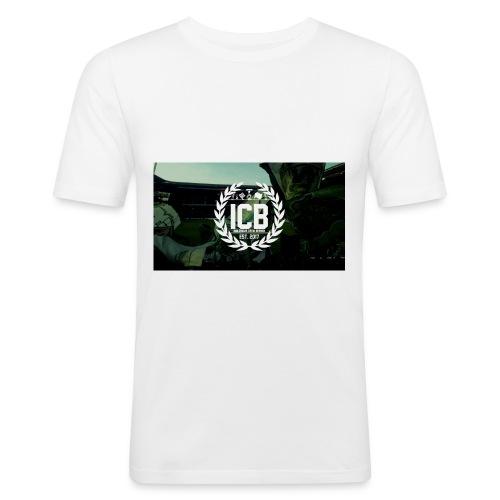 ICB Logo mit Hintergrund - Männer Slim Fit T-Shirt