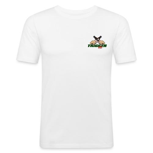 Trigger Grün kleines Logo - Männer Slim Fit T-Shirt