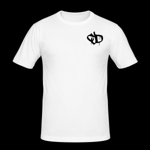 Dripping blood CJD logo - Men's Slim Fit T-Shirt