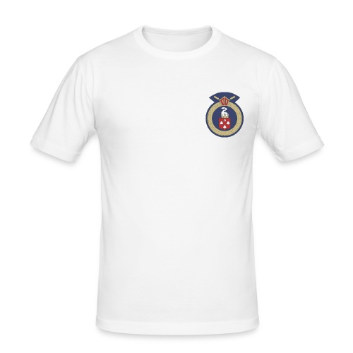 13 Eastleigh Badge White - Men's Slim Fit T-Shirt