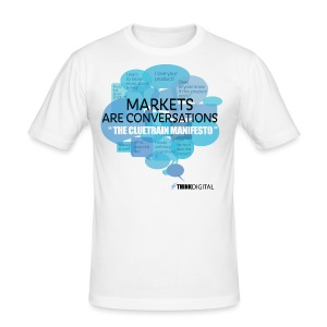 Markets are conversations The Cluetrain Manifesto - Maglietta aderente da uomo