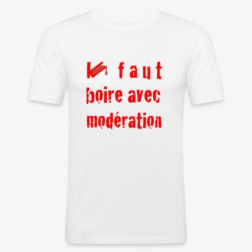 test t shirt FACE ROUGE - T-shirt près du corps Homme