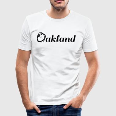 Oakland | noir | logo - Tee shirt près du corps Homme
