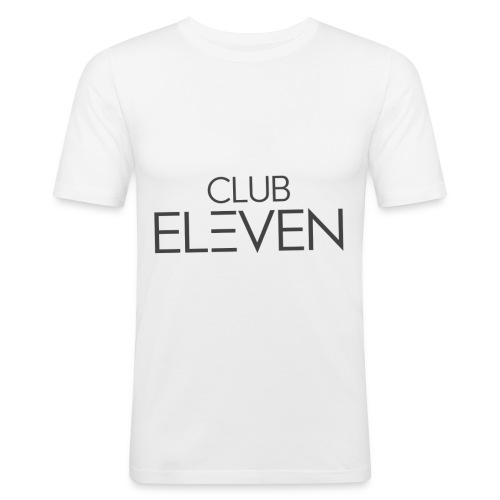 ClubEleven Schriftzug - Männer Slim Fit T-Shirt