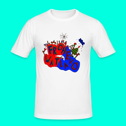 Frohe Watlavo - Männer Slim Fit T-Shirt