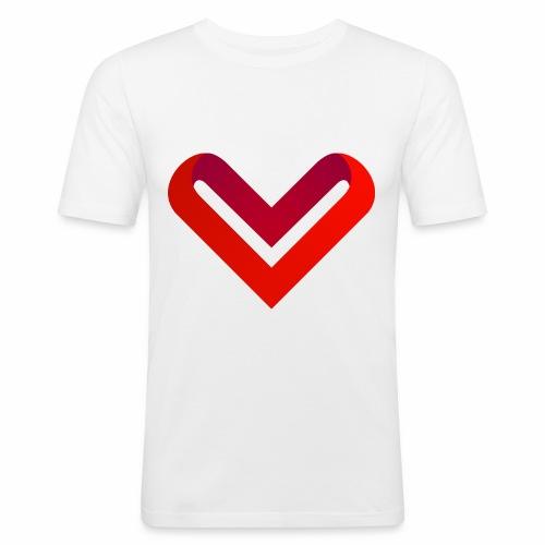 Coeur de V - T-shirt près du corps Homme
